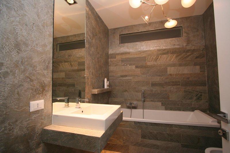 Image bagno foto lavandino a incasso e lo specchio